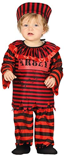 Fancy Me Baby Mädchen Jungen Rot Halloween Gefangene SüßÜberführen Criminal Kostüm Kleid Outfit 6-24 Months - Rot, 12-24 Months