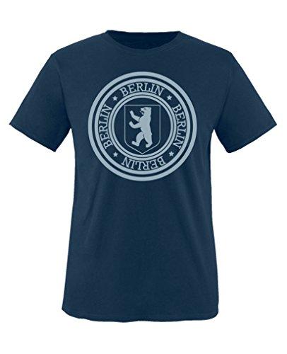 Comedy Shirts - Stadtwappen Berlin - Jungen T-Shirt - Navy/Eisblau Gr. 110-116