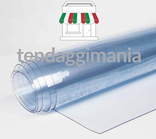 Pvc trasparente plastificato cristal 100% impermiabile, mille usi, altezza rotolo 135 cm,doppio spessore, vendita al mezzo metro lineare (spessore 0,50 mm)