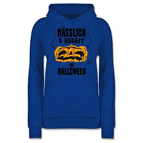 Shirtracer Halloween - Hässlich und bereit für Halloween - S - Royalblau - JH001F - Damen Hoodie