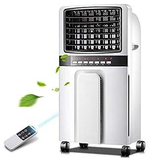 Aire acondicionado portátil Refrigerador de aire Calefacción y refrigeración Calentador doméstico de calefacción de doble propósito más refrigerador silencioso por agua@Blanco_Control remoto de