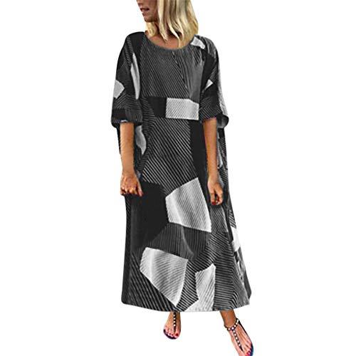 Kostüm Ziel Am Kind - Langes Hemd Kleid Der Mode Frauen Batwing Beiläufiges Streifen Sommer T Shirt Kleid Plus Geometrisches Langarmkleid