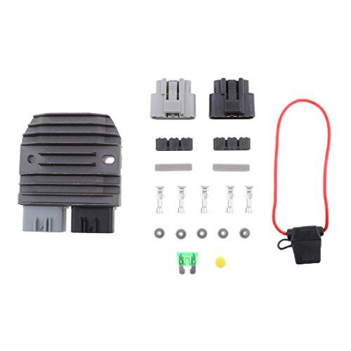 perfeclan 1 Stück Schwarz Spannungsregler Gleichrichter Motorrad Regler Gleichrichter Spannungsregler Laderegler Gleichrichter