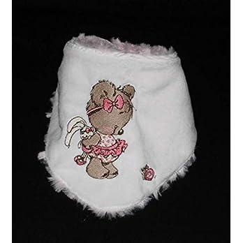 Besticktes Babyhalstuch Dreieckstuch Schal Kinderhalstuch aus kuschelweichem Plüsch