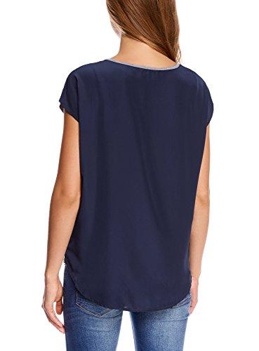 oodji Ultra Damen Bedrucktes T-Shirt mit Chiffon-Rücken Grau (2379Z)