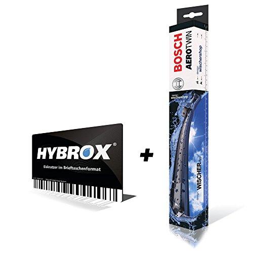 Preisvergleich Produktbild BOSCH Aerotwin FRONT Scheibenwischer SET10439X + HYBROX Eiskratzer