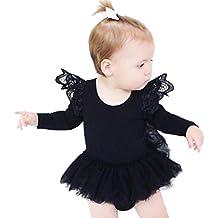 Xinan Niños Bebe Tutu Romper Laces Jumpsuit Ropa Trajes 0-2T