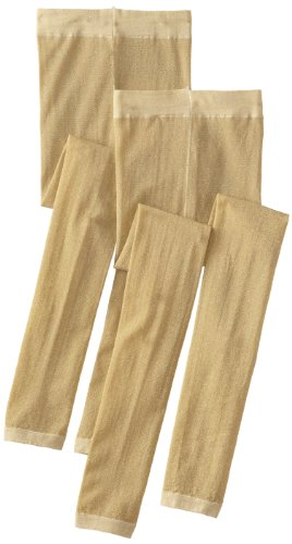 Country Kids Mädchen Strumpfhose Sparkly Footless Tights, Gold, Small