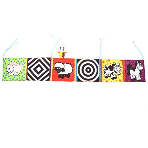 MagiDeal Juguete Montessori Infantil Libro de Tela Galería de Animales Zoológicos Juego Cognitivo para Niños