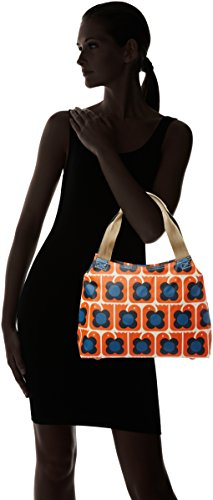 Orla Kiely - Love Birds Print Classic Zip Shoulder Bag, Borse a Tracolla Donna Orange (Persimmon)