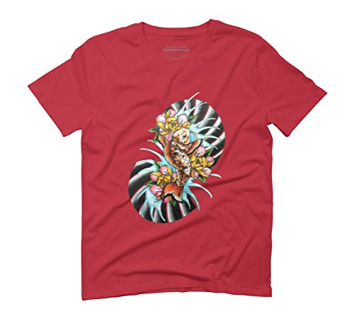 Oriental Koi fish Men's Graphic T-Shirt - Design By Humans Red
