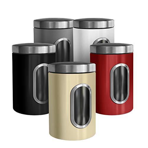 casa pura Trendige Vorratsdose Scatola zur Aufbewahrung von Mehl Zucker Müsli Kaffee Tee |...