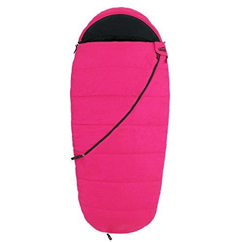 Qeedo Buddy Junior Kinder-Schlafsack (bis 155 cm Körpergröße) - pink