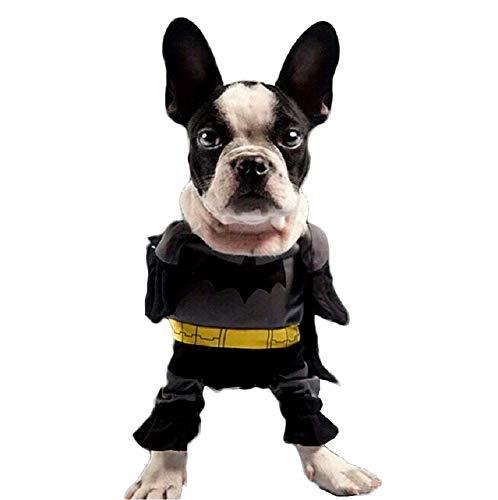 KIRALOVE Superheld kostüm - Fledermaus Mann - Hund - xs - verkleidungen - Halloween Karneval - originelle Geschenkidee Superheld
