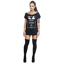Alicia en el País de las Maravillas Camiseta Mujer Negro XL