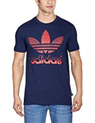 adidas Trefoil Fill T-Shirt manches courtes Homme Collegiate