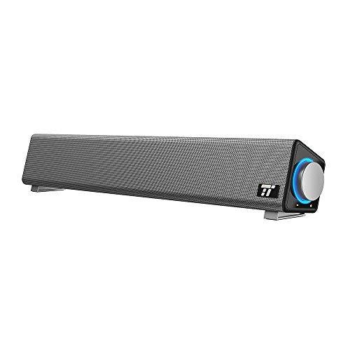 TaoTronics Soundbar per Computer Cablata USB con Ampia Compatibilità Altoparlante PC con Ingresso Microfono e Uscita Cuffie per PC/Tablet/Proiettori la Casa e per l'Ufficio