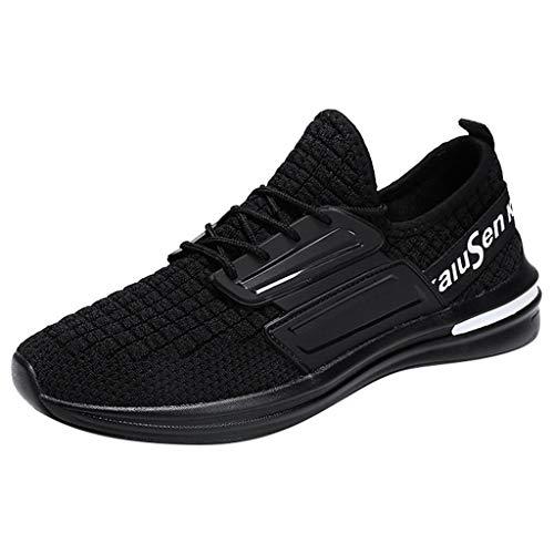VBWER Herren Damen Sneaker Slip on Sportschuhe Turnschuhe Outdoor Leichtgewichts Laufschuhe Freizeit Atmungsaktive Schuhe Bequeme Textil Schuhe