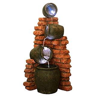 Vierstufiger Krugbrunnen mit LED-Beleuchtung