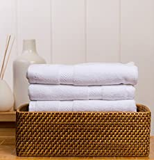 Fresh from Loom Cotton 3pc Hand Towel Set (White)