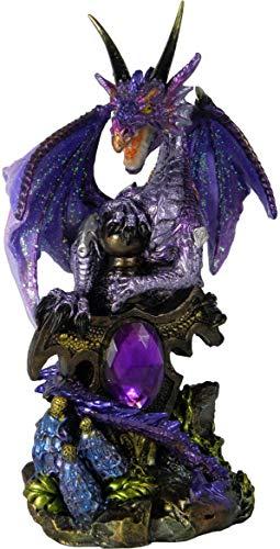 Nemesis Now Galeru - Figura Decorativa de Resina (13 cm), Color Morado