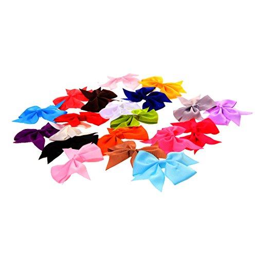20pcs Pince à Cheveux Fait à la Main Nœud Papillon Accessoire