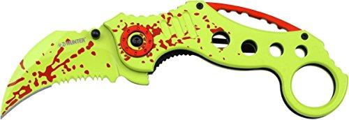 Divers-Zombie-Killer-ZB051GR-Karambit-AO-Linerlock-Messer-Gelb