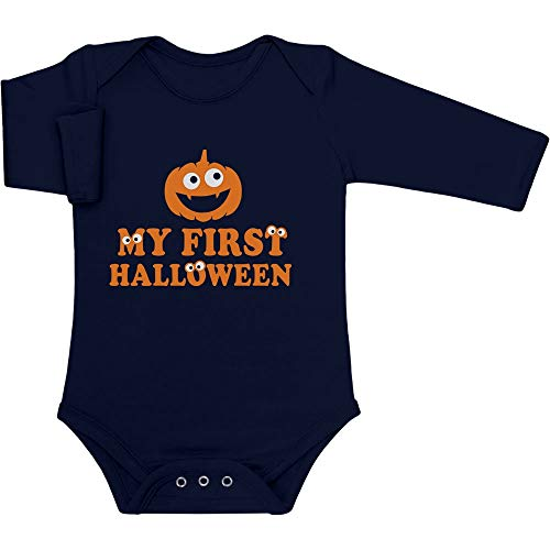 Shirtgeil Pumpkin My First Halloween Süßes Motiv Baby Langarm Body 50/56 (0-3M) Marineblau
