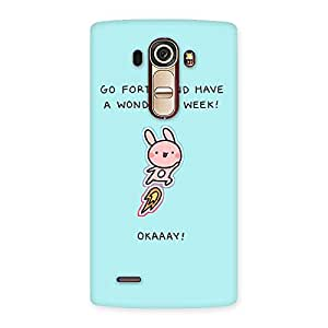 Neo World Wondrous Day Back Case Cover for LG G4