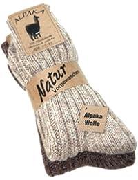 """2 Paar flauschig warme Alpaka Socken Winter Socken """"warme Füße in der kalten Jahreszeit"""""""