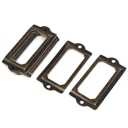 Datei Schublade Tür 70x 33mm Tag Label Karte Halter Rahmen Bronze Ton 100 -