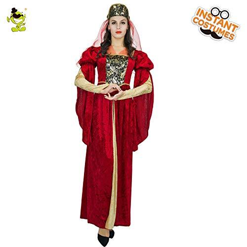 GAOGUAIG AA Mittelalterliche Göttin Prinzessin Kostüm for Erwachsene Kostüme for Damen SD (Color : Onecolor, Size : Onesize) (Göttin Für Erwachsenen Plus Kostüm)