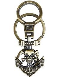 Gratitude Skull Theme Locking Keychain / Key Chain / Keyring / Key Ring