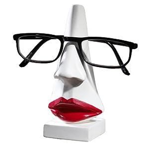 Brillenhalter Frau mit Roten Lippen