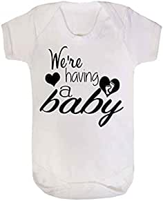 Body blanc « We re Having a Baby » - Annonce de grossesse - Blanc 71d7bbe0527