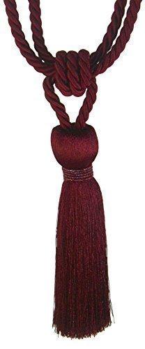 2x vino rosso in rilievo raso nappe straordinaria qualità tenda fermatenda 58,4cm * mil *