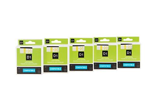 yenlok-5pk-compatibile-dymo-d1-45018-s0720580-nastro-laminato-adatto-etichette-adesivo-etichetta-mac
