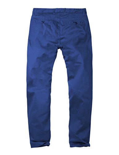 Match Pantalons Casual Slim Tapered Stretch pour Homme #8050 8050 Bleu#2(Blue#2)