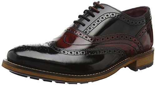 TED BAKER - Krelly 2, Stringate da uomo, nero (black / dark red), 41