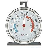 ميزان حرارة للثلاجة/المجمد كبير بقرص كبير من تايلور كلاسيك