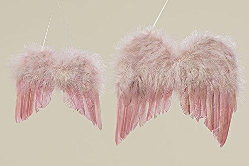2er SET Engelsflügel ROSA Deko Flügel Weihnachten Dekoflügel altrosa Weihnachtsdeko Fensterschmuck romantische Deko Shabby Chic Nostalgie Vintage Schutzengel Kostüm Fasching (Nostalgie Kostüme)
