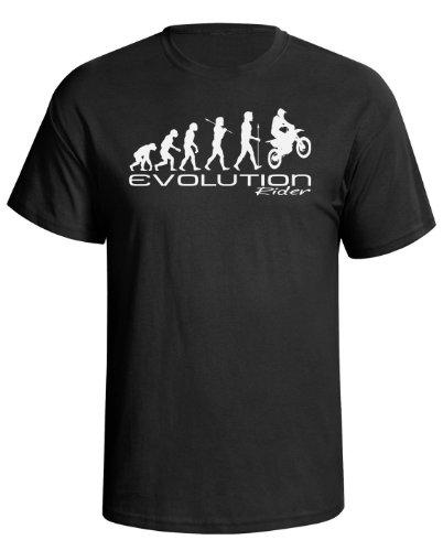 Evolution of a motocross rider Mens Camiseta Para Hombre moto x motorbike...