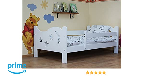 Camila Moon Stars Toddler Bed White Deluxe Sprung Mattress Amazoncouk Baby