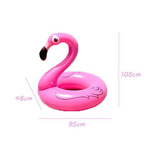 Schwimmring AMINSHAP Schwimmen-Kreis-Kinderrosa-Mädchen-Flamingo-Schwimmen-Ring-Erwachsener Verdickte Wasser-Berg im Freien senden Pumpen-Umweltschutz PVC-Material (Größe : 105*95*46cm)