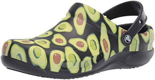 crocs Bistro Graphic Clog U, Zuecos Unisex Adulto, Negro (Black/Volt Green 09w), 36/37 EU