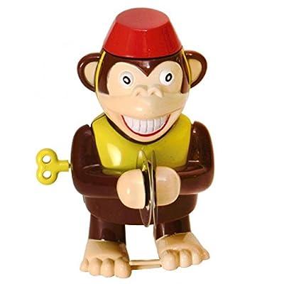 Affe mit Becken Aufziehfigur - Zirkusaffe mit Becken Aufzieh Figur Wind Up Figur von diverse