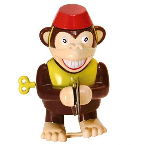 Affe mit Becken Aufziehfigur - Zirkusaffe mit Becken Aufzieh Figur Wind Up Figur