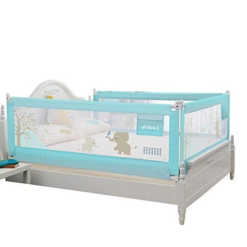 LIQICAI 3er Set Seitig Bettgitter Für Kleinkinder Sicherheitsschlaf Bettschutzgitter Bettschranke Bett Stoßstange Für Kleinkinder/Kinder/Baby, 3 Farben (Color : Blue, Size : 1.2X1.8X1.8M)