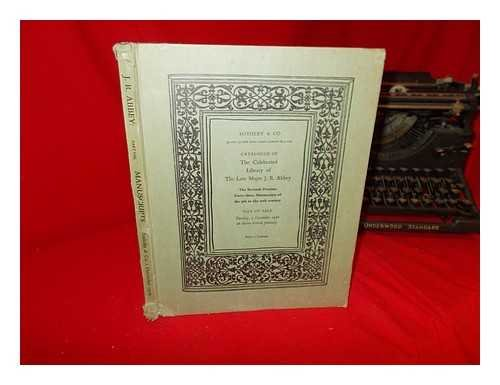 Catalogue of The Celebrated Library: the property of the alte major J.R. Abbey, sold by order of the executors. The Seventh Portion: forty-three manuscripts of the 9th to the 20th century. Day of Sale: Tuesday, 1 December 1970 at eleven o'clock