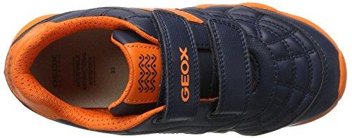 Geox J Munfrey B, Scarpe da Ginnastica Basse Bambino Blu (Navy/orange)